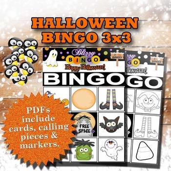 Blizzy Bingo HALLOWEEN 3x3 Printable PDFs