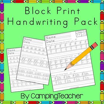 Block Print Writing Pack Handwriting Practice