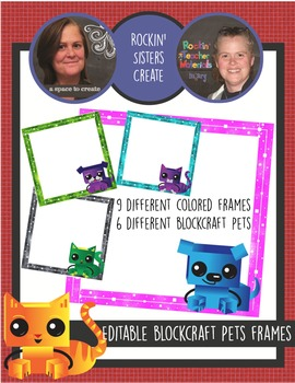 Blockcraft Pets, 3x3, Editable Name Tags-6 Different Pets-