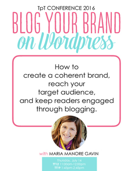 Blog Your Brand on WordPress - Handout for Orlando Confere