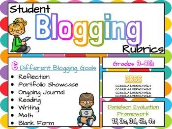 Blogging Rubrics for Students: Google Slides (CCSS & Danie