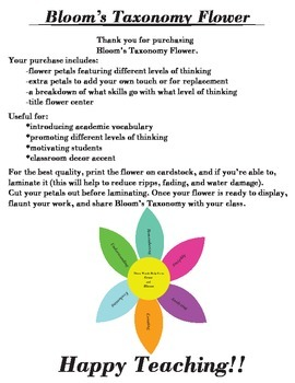 Bloom Taxonomy Flower