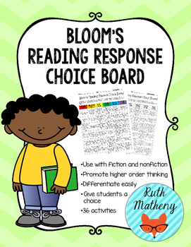 Bloom's Reading Response Choice Board