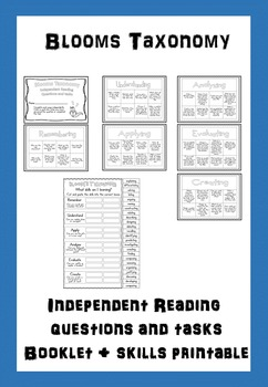 Bloom's Taxonomy Independent Reading Questions and Tasks Booklet