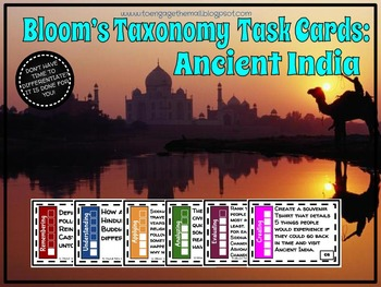 Bloom's Taxonomy Task Cards: Ancient India