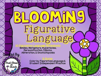 Blooming Figurative Language (Flower Literary Device Unit)