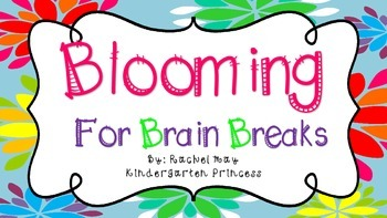 Blooming For Brain Breaks