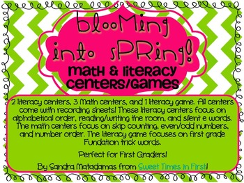 Blooming into Spring Math and Literacy Activities