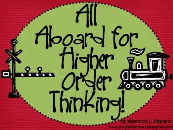 Train Bloom's Taxonomy Class Posters (All Aboard for Highe