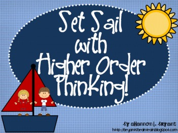 "Ocean Bloom's Taxonomy Class Posters (""Set Sail with Highe"