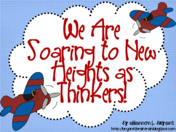 Airplane Bloom's Taxonomy Classroom Posters (Soaring to Ne