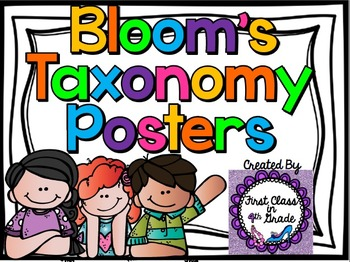 Bloom's Taxonomy Color-Coded Poster Set