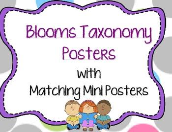 Bloom's Taxonomy Poster Set