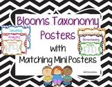 Bloom's Taxonomy Poster Set (Chevron)