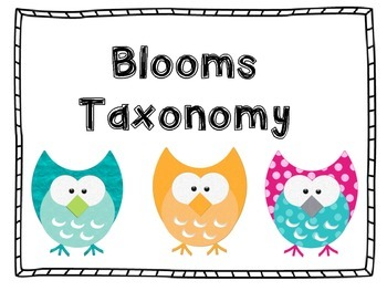 Blooms Taxonomy Posters and Labels