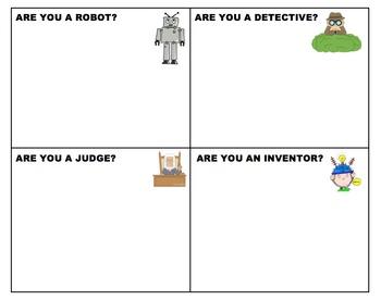 Bloom's Taxonomy Questions & Activities: Robot, Detective,