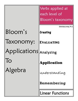 Bloom's Taxonomy (Revised): Applications for Algebra