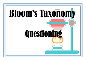Bloom's Taxonomy for Science - questioning posters