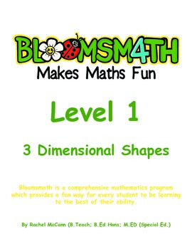 Bloomsmath Differentiated 3D Kindergarten Maths Activities