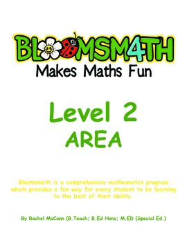 Bloomsmath Differentiated Area Maths Activities for Year 1