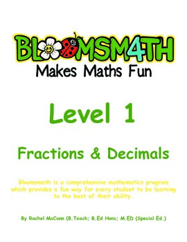 Bloomsmath Differentiated Fraction and Decimal Kindergarte