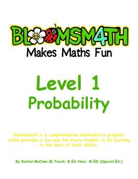 Bloomsmath Differentiated Probability & Chance Kindergarte