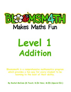 Bloomsmath Differentiated Addition Maths Activities for Ki