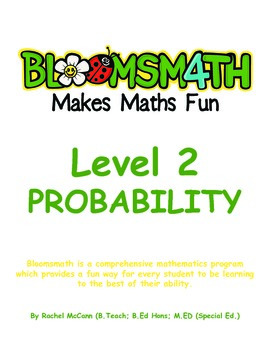 Bloomsmath Differentiated Probability and Chance Maths Act