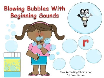 Blowing Bubbles With Beginning Sounds