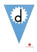 Blue Alphabet Flags