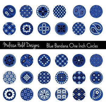 Clipart: Blue Bandana Circles Clip Art