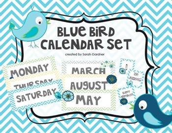 Blue Birds Calendar Set {Greens, Blues, Grays, Yellows}