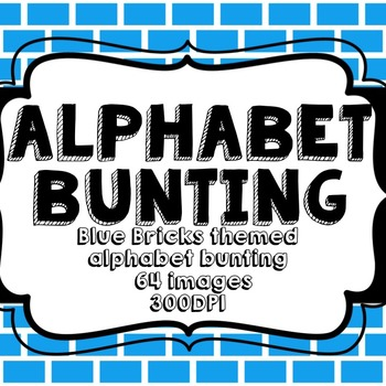 Blue Bricks Alphabet Bunting