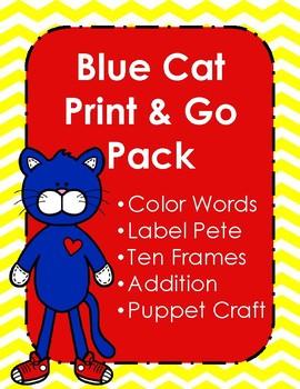 Blue Cat Print & Go Pack