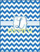 Blue Chevron Monogrammed Book Covers