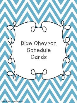 Blue Chevron Schedule Cards