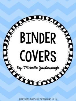 Blue Chevron Teacher Binder Covers