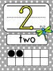 Blue Chevron and Grey Polka Dots Number Line 1-20