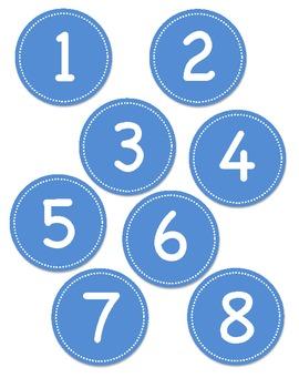 Blue Circle Number Labels 1 - 30 by Teachers'LilHelpers | Teachers ...
