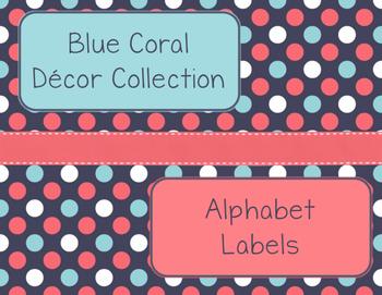 Blue Coral Decor: Alphabet Labels