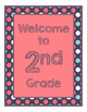 Blue Coral Decor: Coral & Dots Welcome Poster
