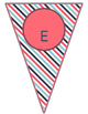 Blue Coral Decor: Welcome Banner & Editable Pennants