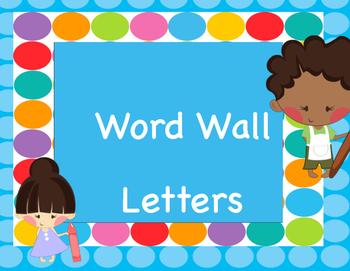 Word Wall Blue Dots