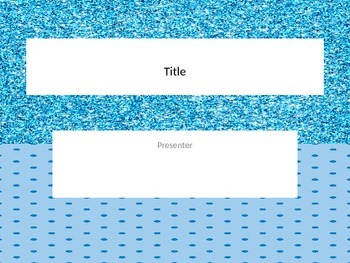 Blue Glitter and polka dot powerpoint template