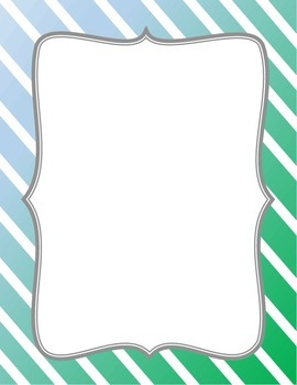 Background Template - Blue & Green Diagonal Stripes with Frame