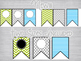 Blue & Green Editable Labels, Desk Plates & Banner: Mix & Match
