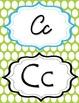 Blue & Green Polka Dot manuscript & cursive ABC Classroom