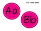 Blue, Green, and Pink Circle Word Wall Letters and Title Bunting