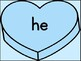 Blue Heart Dolch Primer Sight Word Posters and Flashcards