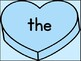 Blue Heart Fry List 1 From 1st 100 Sight Word Posters and